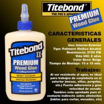 Adhesivo TITEBOND resistente al agua x 236ml