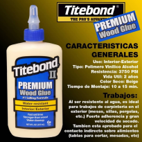 Adhesivo TITEBOND resistente al agua x 946ml